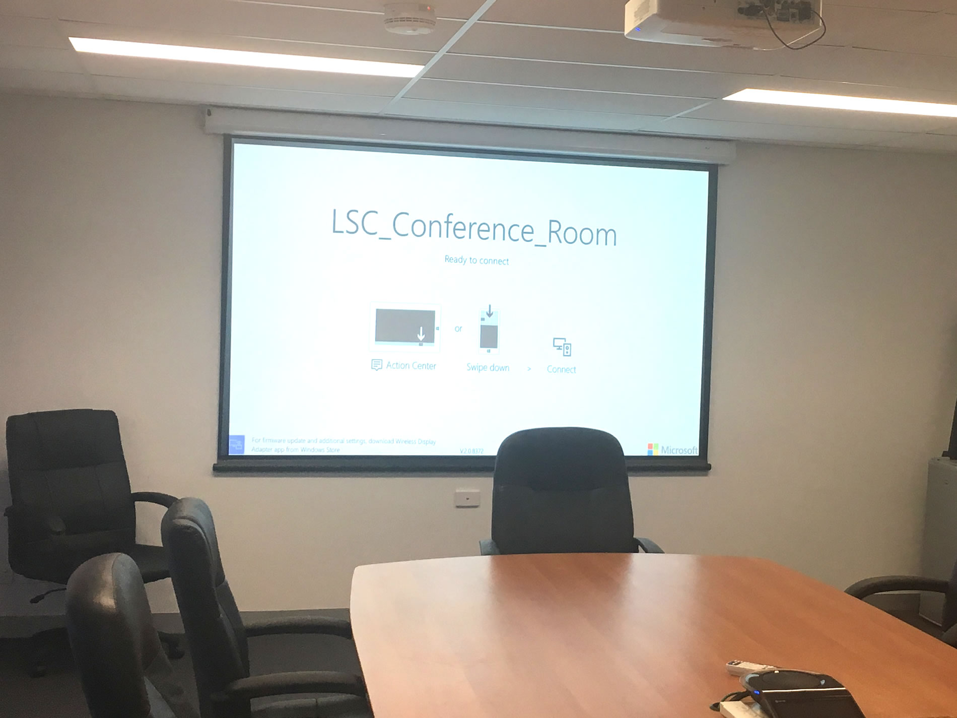 conference room projector tv wall installation gold coast