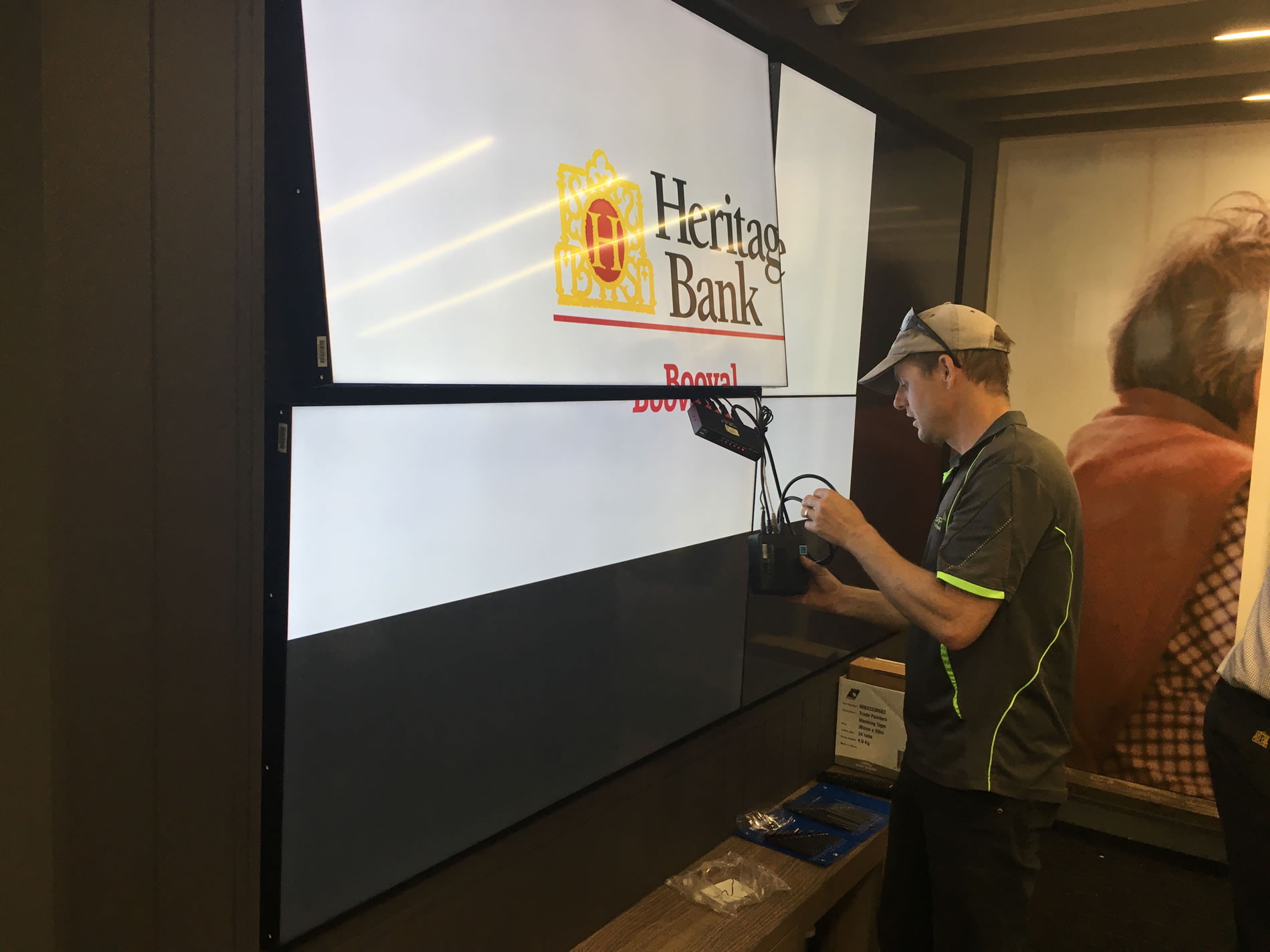 video wall multiple screens installation gold coast